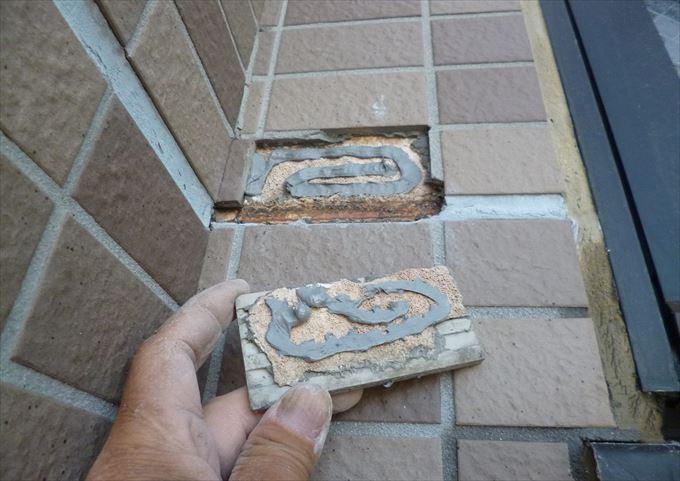 タイル貼り替え工事