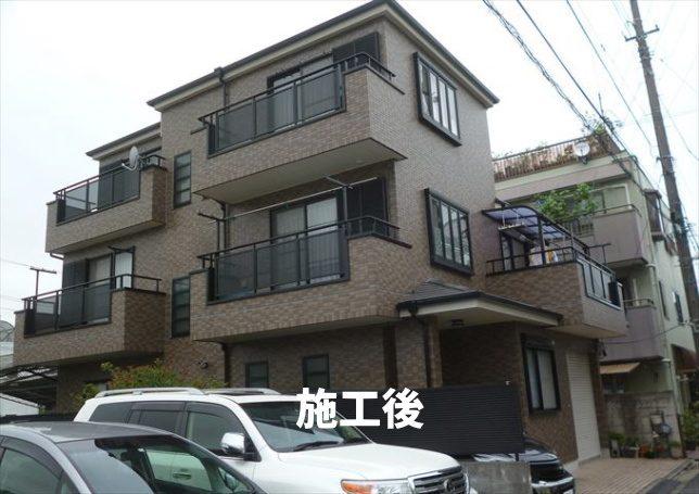 葛飾区 屋根塗装、外壁塗装、防水工事施工例